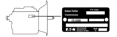 Eaton Fuller 7 speed transmission model ID